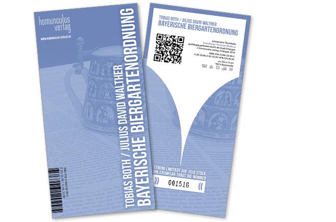 homunculus verlag | Bayerische Biergartenordnung | Tobias Roth & Julius David Walther | Zertifikat