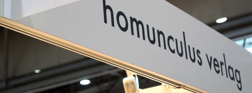 Stand des homunculus verlags auf der Leipziger Buchmesse