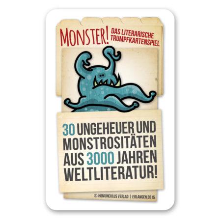 Cover: Monster! Das literarische Trumpfkartenspiel