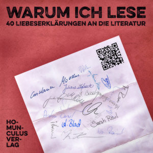 Cover: Warum ich lese, Buchbloggeranthologie