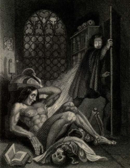 Frankensteins Monster, Frontispiz Ausgabe 1831