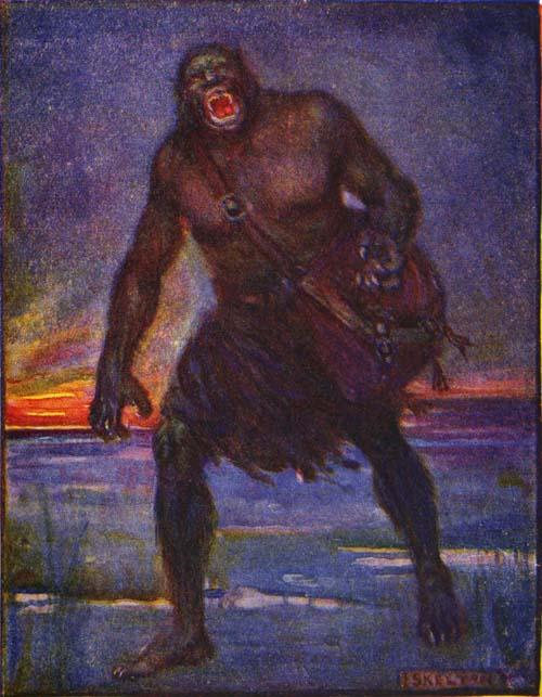 Grendel, Zeichnung von Henrietta Elizabeth Marschall