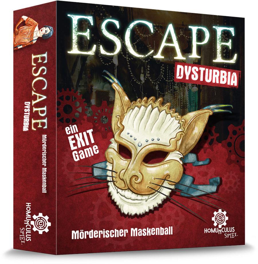 Escape Dysturbia: Mörderischer Maskenball | Escape Game Brettspiel