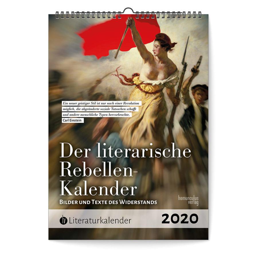 Cover: Der literarische Rebellen-Kalender 2020