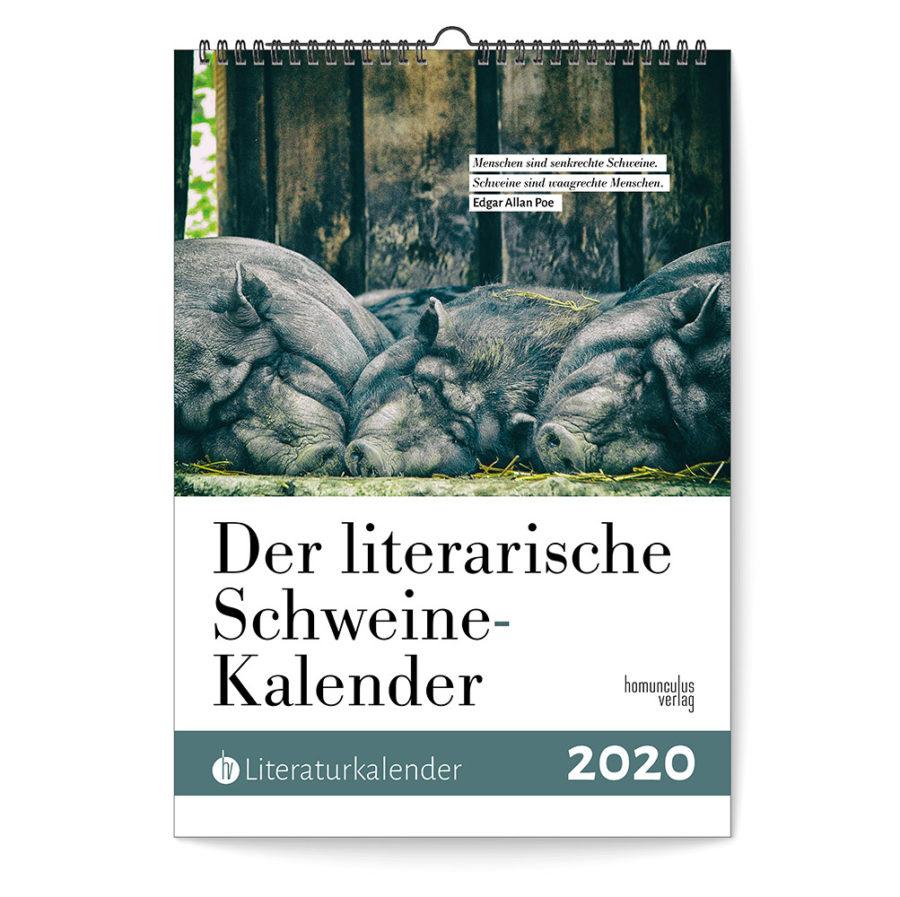 Cover: Literarischer Schweine-Kalender 2020