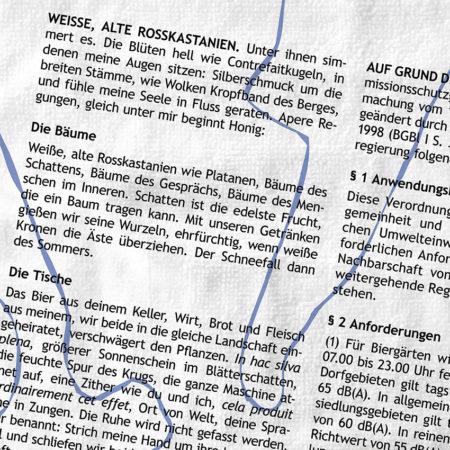Tischdecke: Bayerische Biergartenordnung