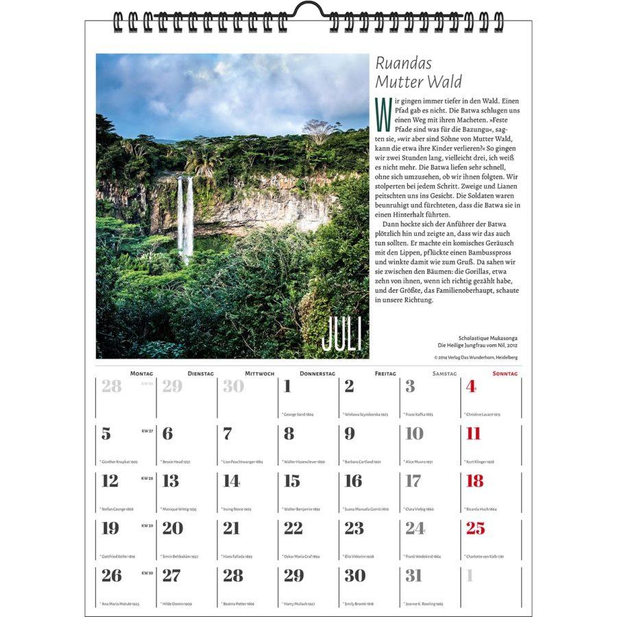 Der Literarische Waldkalender 2021 | homunculus verlag