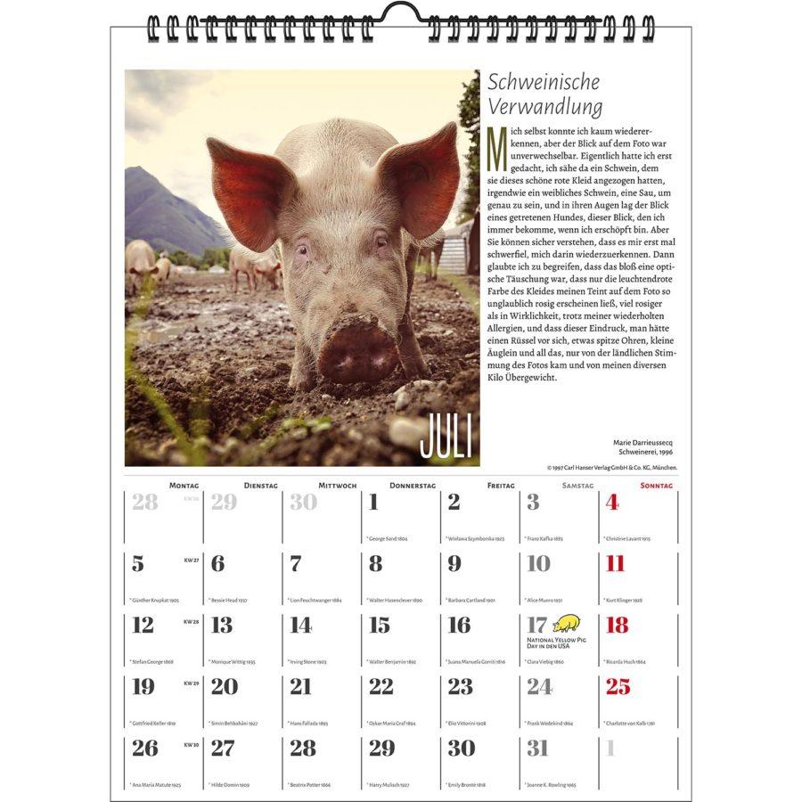 Der Literarische Schweinekalender 2021 | homunculus verlag