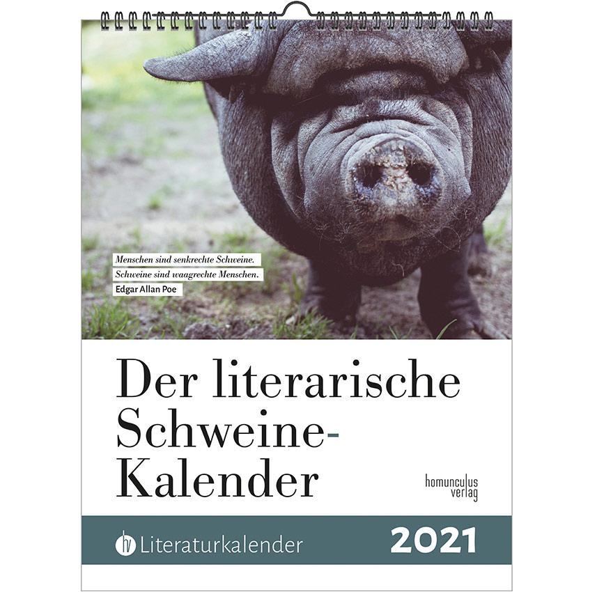 Cover: Literarischer Schweine-Kalender 2021