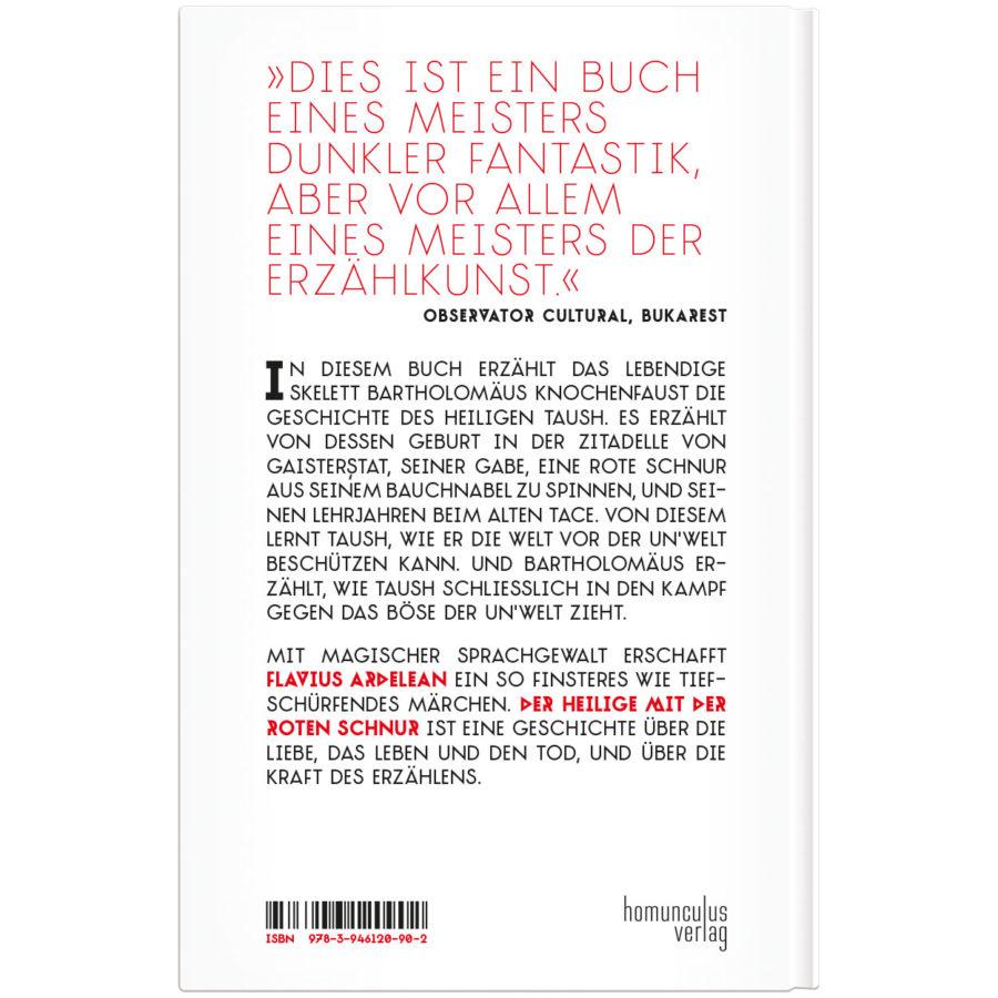 Flavius Ardelean - Der Heilige mit der roten Schnur - homunculus verlag - Cover