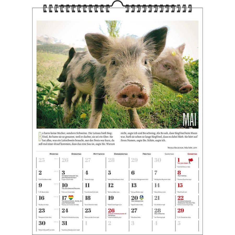 Literarischer Schweinekalender 2022