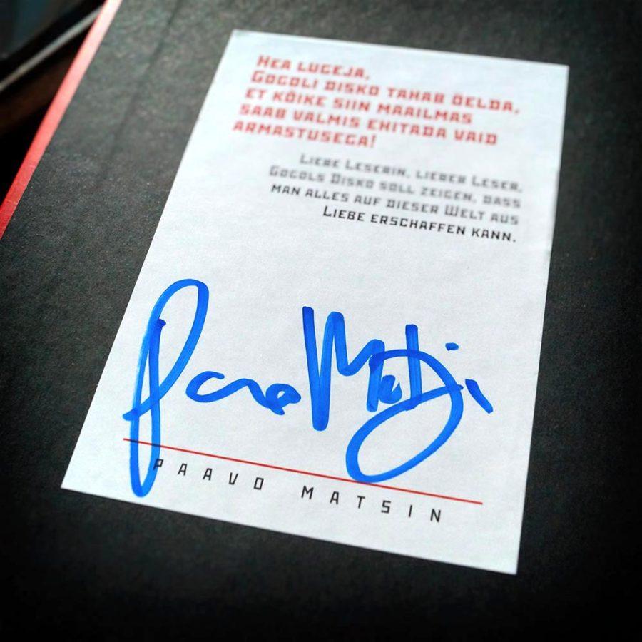 Paavo Matsin | Signatur